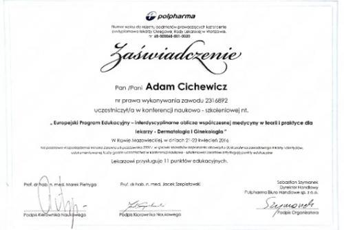 Adam-Cichewicz-Certyfikat 4