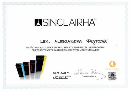 Aleksandra Frątczak certyfikat 25
