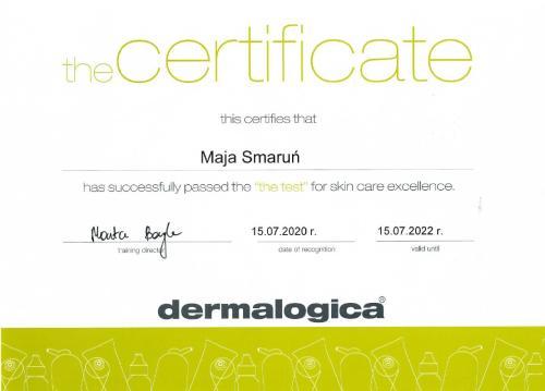 Maja Smarun certyfikat 1