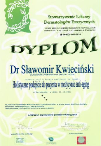 FabDent Sławomir Kwieciński certyfikat 10