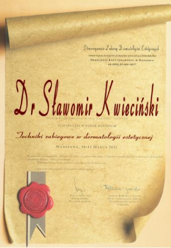 FabDent Sławomir Kwieciński certyfikat 13