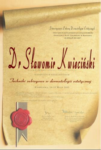 FabDent Sławomir Kwieciński certyfikat 14