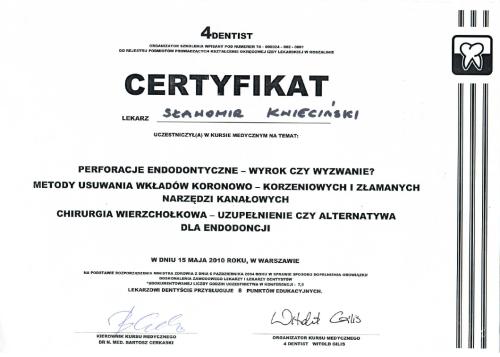 FabDent Sławomir Kwieciński certyfikat 4