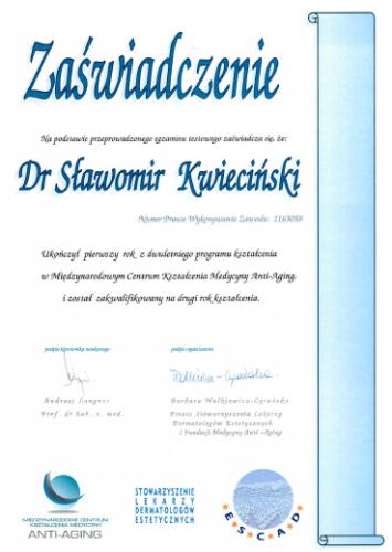 FabDent Sławomir Kwieciński certyfikat 7