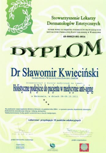 FabDent Sławomir Kwieciński certyfikat 8