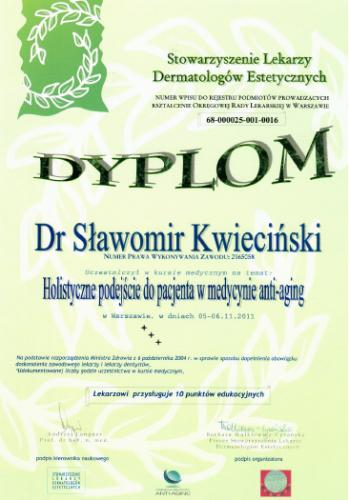 FabDent Sławomir Kwieciński certyfikat 9