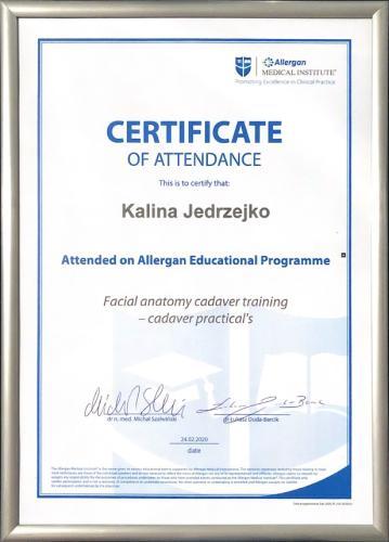 Kalina Jędrzejko certyfikat 10