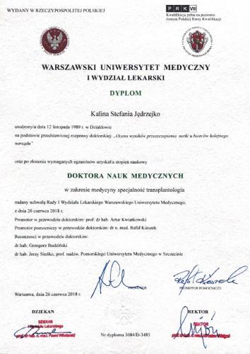 Kalina Jedrzejko certyfikat 4
