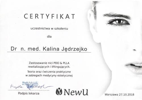 Kalina Jedrzejko certyfikat 5