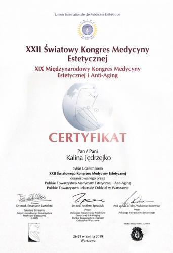 Kalina Jedrzejko certyfikat 8