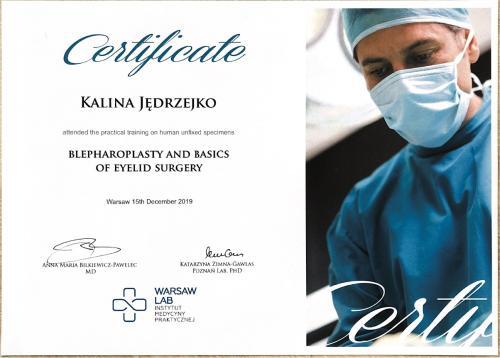 Kalina Jedrzejko certyfikat 9