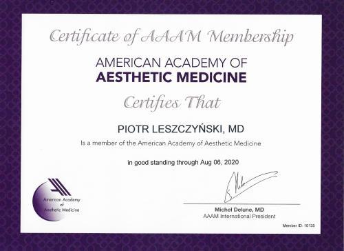 Piotr Leszczynski certyfikat