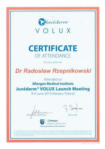 Radosław Rzepnikowski Juvederm Volux