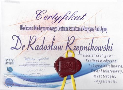 Radosław Rzepnikowski FabSkin certyfikat