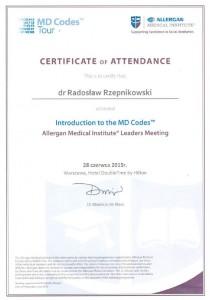 certyfikat Rzepnikowski MD Codes