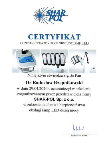 lampa LED radosław rzepnikowski