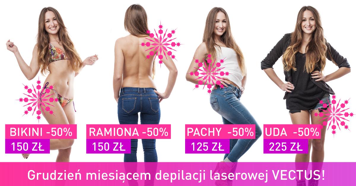 Grudzień miesiącem depilacji laserowej Vectus w Warszawie