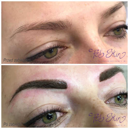 makijaż permanentny brwi zdjęcie po zabiegu