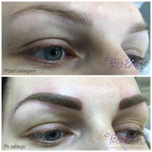jak wygląda efekt makijażu permanentnego brwi