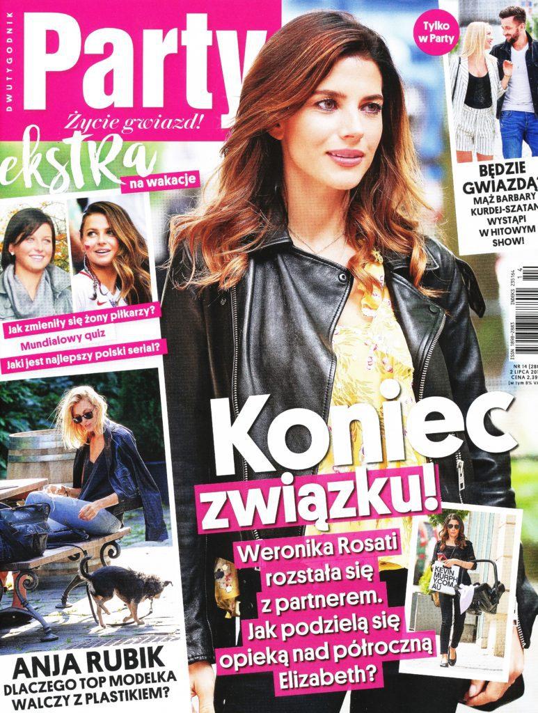 magazyn party okładka lipiec 2018 medycyna estetyczna warszawa fabskin
